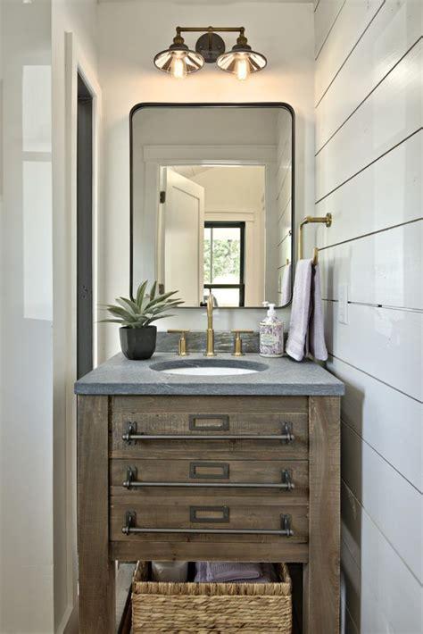 turning  tiny cottage    story modern farmhouse bathrooms rustic bathroom lighting