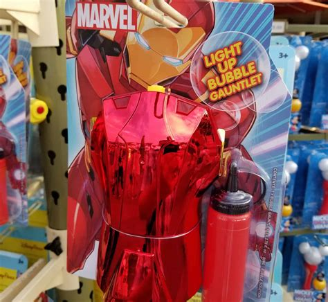 marvel iron man light bubble gauntlet