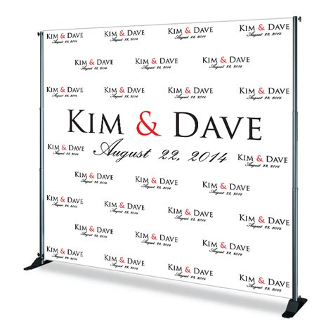 Wedding Backdrop Design Template by Custom Step Repeat Displays Backdrops Flags