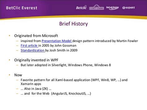 mvvm pattern history training mvvm pattern