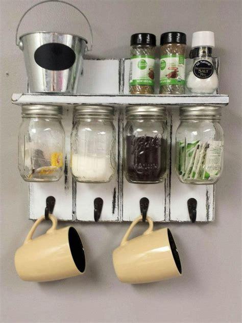 coffee cup hooks kitchen 17 best ideas about jar organizer on diy