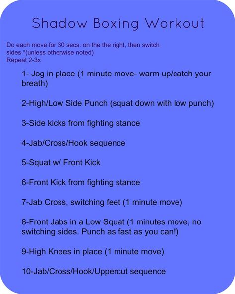 best 25 shadow boxing workout ideas on boxing