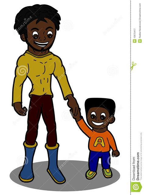 father and son cartoon father and son cartoon royalty free stock photography