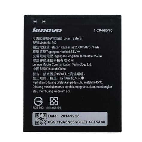 Baterai Lenovo Bl242 For Lenovo K3 K3t A6000 2300 Mah lenovo k3 k30 t a6000 battery bl24 end 11 26 2018 12 09 pm