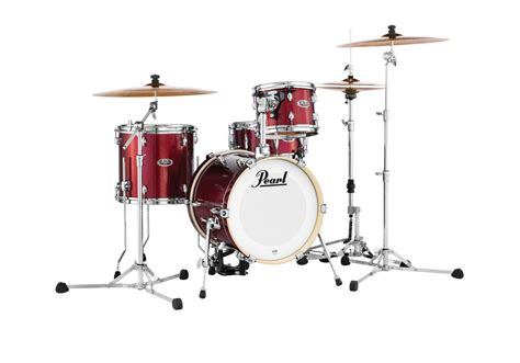 Set Drum Pearl Merah Asik midtown series pearl drums