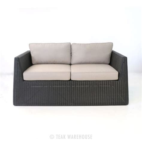 black wicker loveseat giorgio outdoor black wicker loveseat teak warehouse