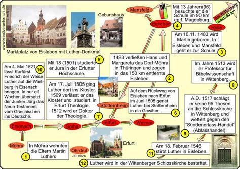 Chronologischer Lebenslauf Martin Luther Martin Luther Lebenslauf Geogrophische Darstellung
