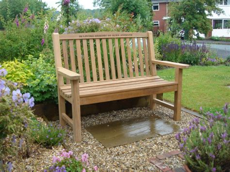 in loving memory bench memorial benches teak classic bench 1200