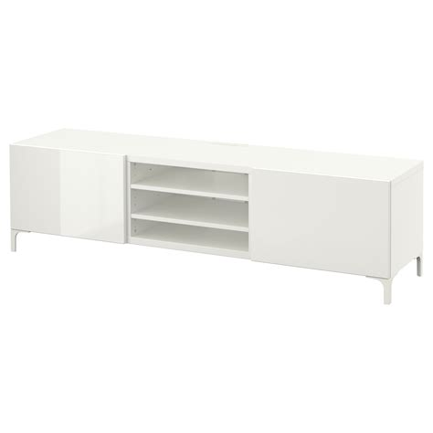 tv bench white gloss best 197 tv bench with drawers white selsviken high gloss white 180x40x48 cm ikea