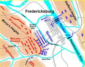 fredericksburg map the american civil war