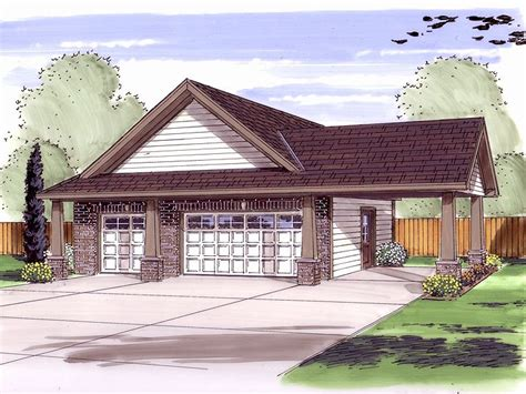 garage plans with carport craftsman style two car garage plan with carport and