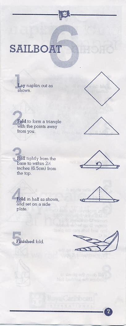 boat origami with napkins napkin origami sailboat origami pinterest origami