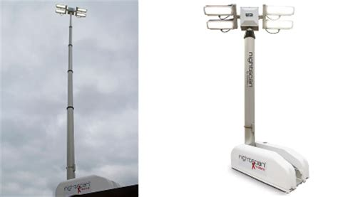 scan light tower light with maximum height roof mount fold