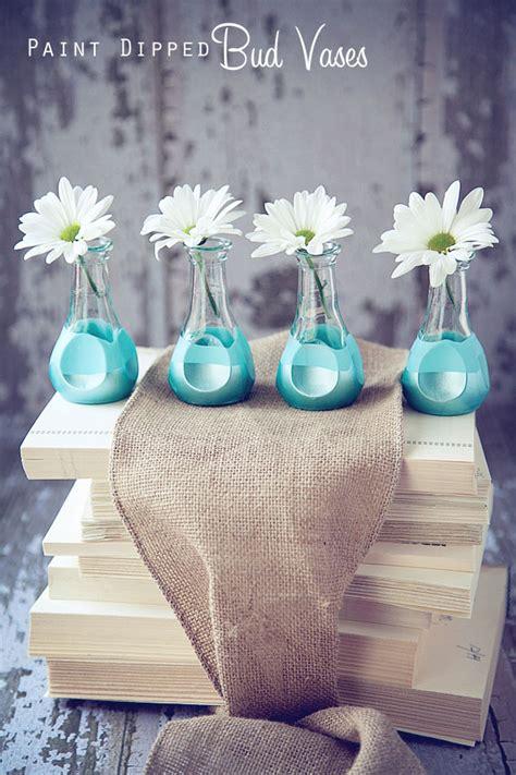 Diy Vase Decor by Subtle Floral Diy Decor Paint Dipped Bud Vases