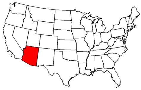 us map with arizona arizona map united states