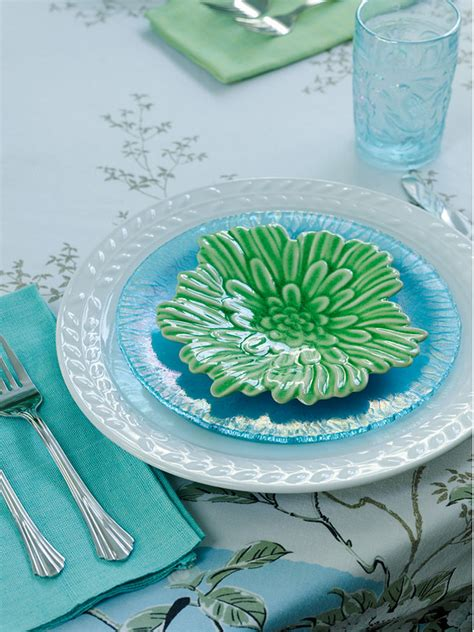 Ideas For Turquoise Table Ls Design Small Lake Cottage With Turquoise Interiors Home Bunch
