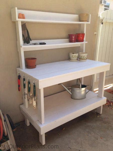 diy potting bench myoutdoorplans  woodworking