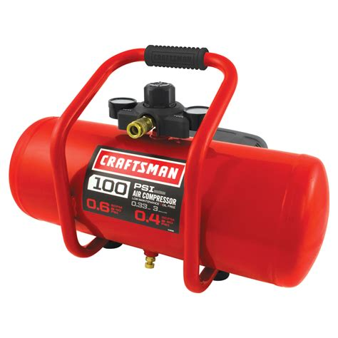 craftsman 3 gallon free portable electric air compressor tools air compressors air