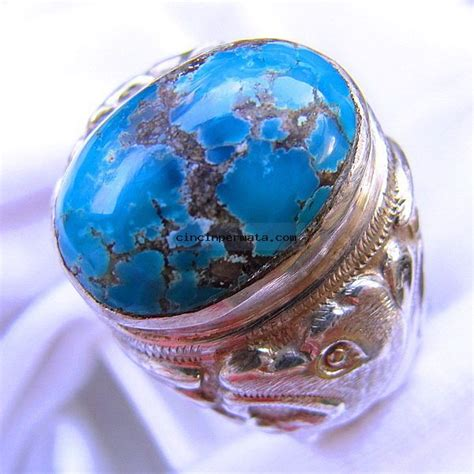 Panci Imperial cincin batu pirus biru panci cincinpermata jual