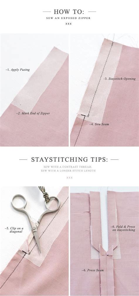 Vintage Pattern Tips | pattern runway how to sew an exposed zipper with a