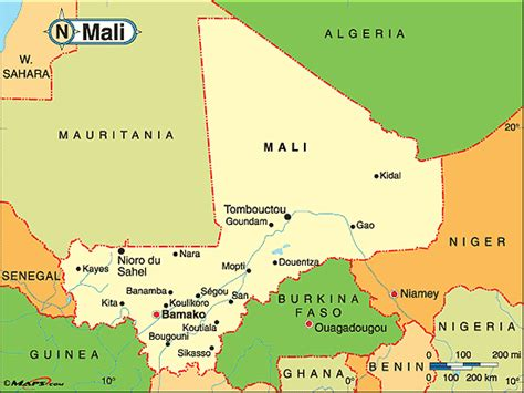 political map of mali mali political map by maps from maps world s