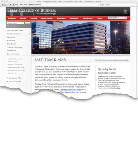 Fast Track Mba In Health Administration Eastern by Fast Track M B A Program Launches New Site Uga Today