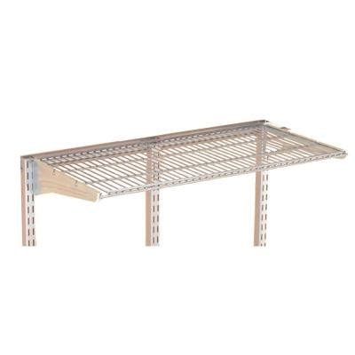 hanging wire shelves triton products storability 31 in w x 5 8 in h x 14 1 2 in d gray epoxy coated steel wire