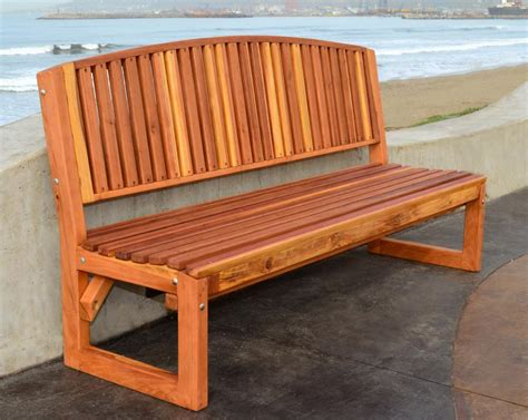 no bench handcrafted outdoor wood bench for garden seating