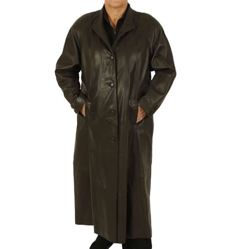 plus size swing coat plus size 24 26 full length brown leather swing coat