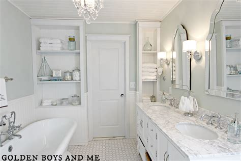 White Bath Golden Boys And Me Master Bathroom Pedestal Tub White