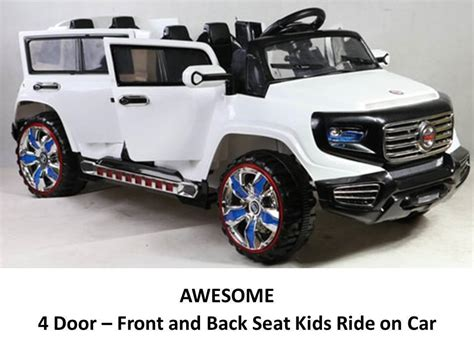 car seat in 2 seater 2 seat 4 door 12v power ride on parental remote