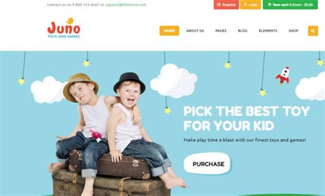 themes for children s clothing 22 best wordpress themes for kids and children 2018