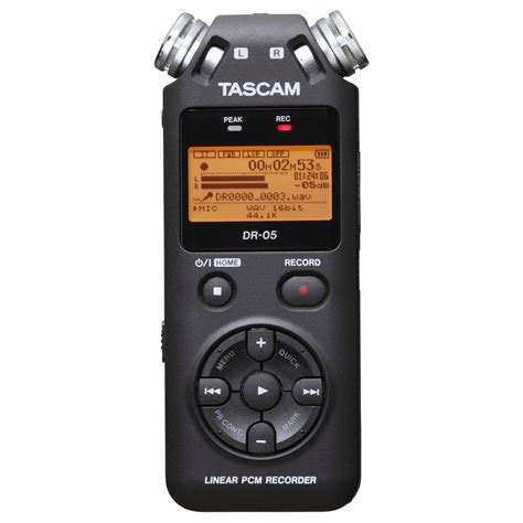 Tascam Dr 05 Handheld Stereo Recorder tascam dr 05 portable handheld audio recorder at gear4music