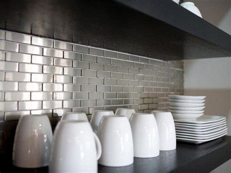 how to cut stainless steel backsplash tips on decorating your kitchen using brick backsplash
