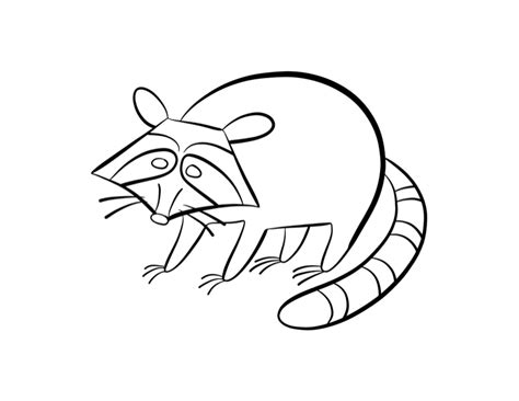 free coloring pages of chester raccoon