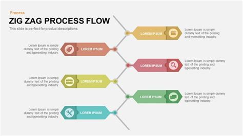 zig zag process flow powerpoint and keynote template