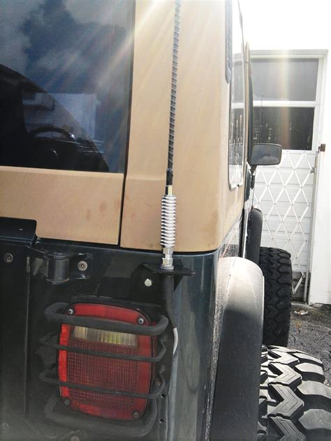 Jeep Tj Cb Antenna Mount Grounding Cb Antenna Jeep