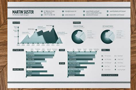 designspiration infographics 25 great high quality and modern exles of creative cv