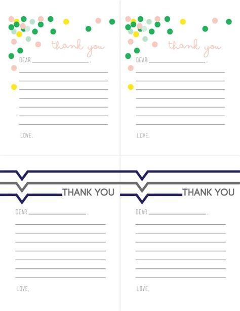 thank you letter to child s sle printable thank you notes for children free printable