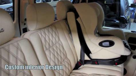 customized g wagon interior g55 brabus rhd custom cream interior by auto audio