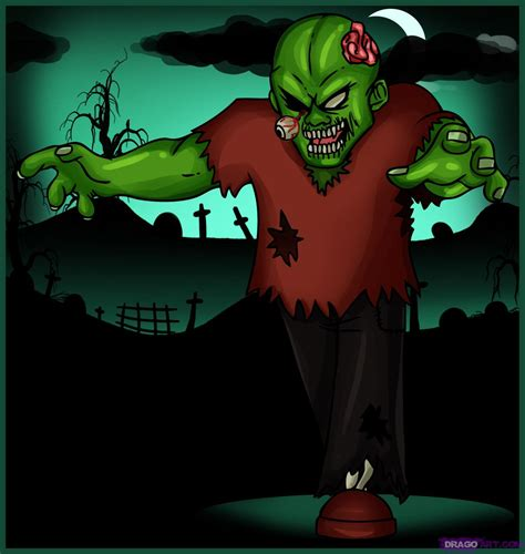 zombie tutorial game how to draw a cartoon zombie step by step zombies