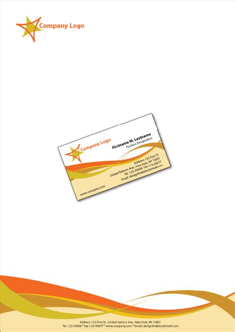 business card and stationery template 10 letterhead design templates company letterhead