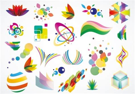 Colorful Logo Design Elements Vector Set | colorful logo design elements vector set free vector in