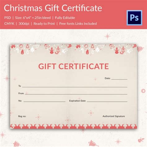 gift certificate template shopping for a gift