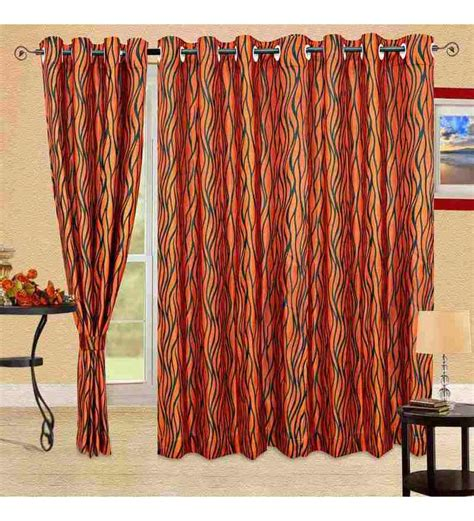 9 ft long curtains cortina red wave long door curtain 9ft by cortina online
