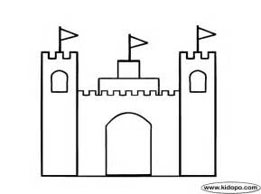 simple castle coloring page images