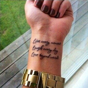 live in the moment tattoo live laught tatspiration