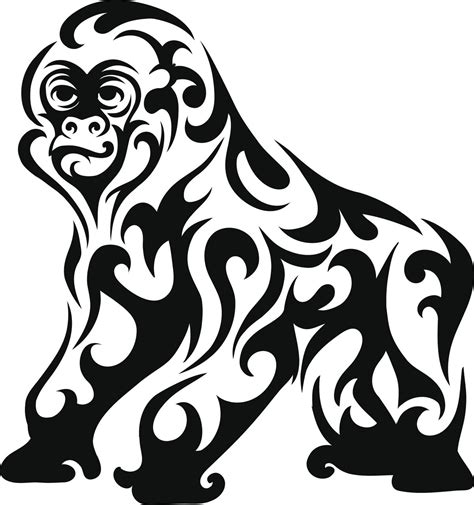 gorilla tribal tattoo these tribal animal tattoos will showcase the wildness in you