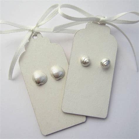 Handmade Shell Earrings - handmade sterling silver shell earrings by