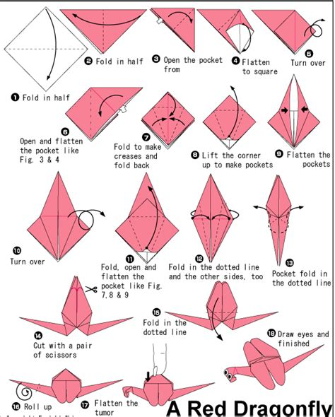 Dragonfly Origami - origami for all origami dragonfly